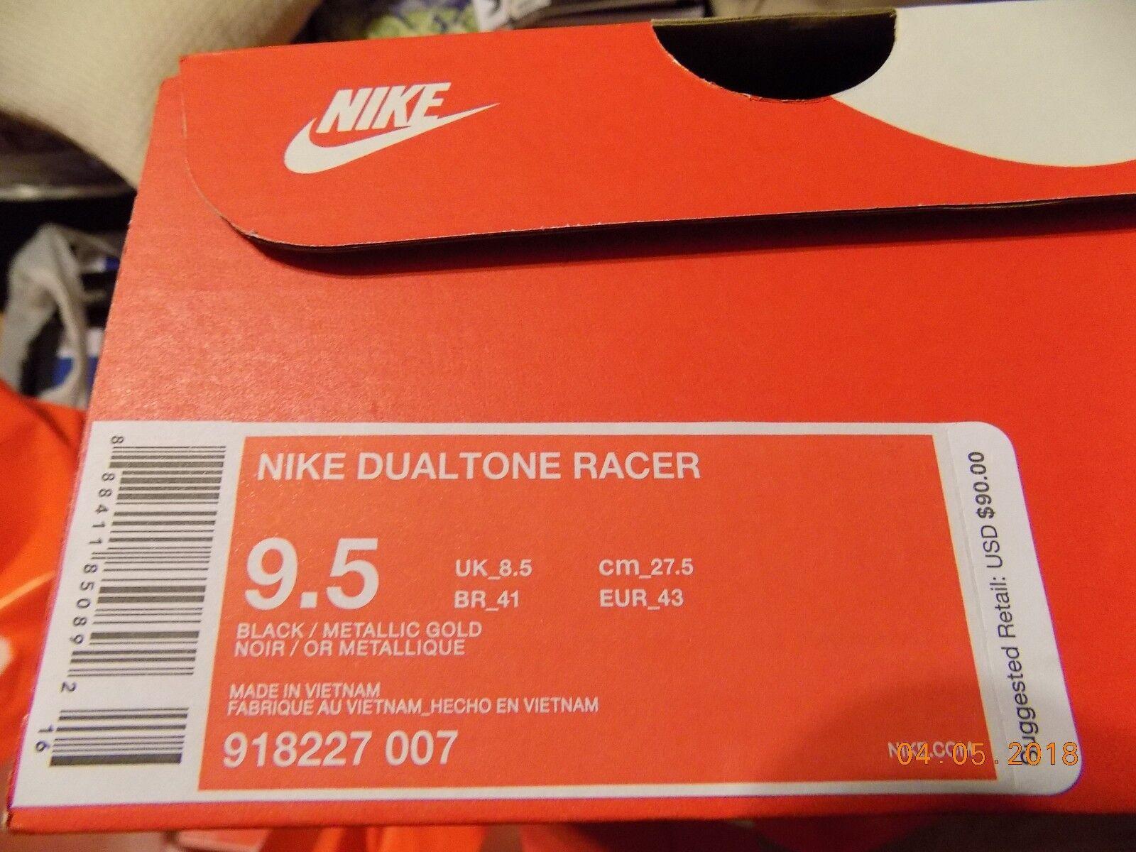 Nike dualtone dualtone dualtone racer schwarz / gold - männer mit box!!!!!!!! 9311c0