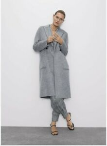 ZARA-MASCULINE-DOUBLE-BREASTED-WOOL-COAT-Size-Small-HANDMADE-BNWT-RRP-119