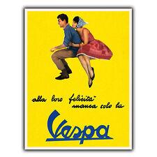 VESPA Bikes Italian Vintage Retro Old Advert METAL WALL SIGN PLAQUE poster print