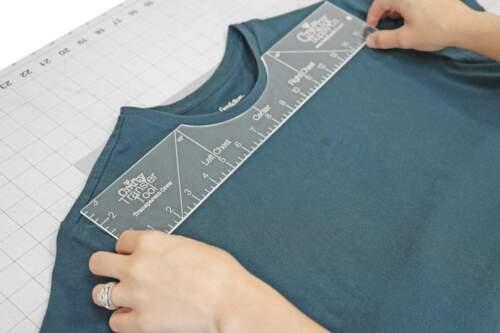Crafty Transfer ToolTransparent T-Shirt Alignment GuideCrew Neck HTV Graph