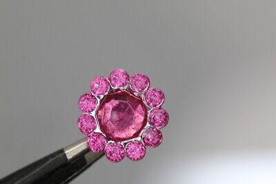wohl ab 2010 schwarze Rose °° Wunderschön gestaltetes Perlknopf-Duo
