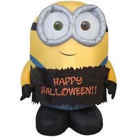 Gemmy Airblown Inflatable Minion Happy Halloween Bob 3 Feet Tall