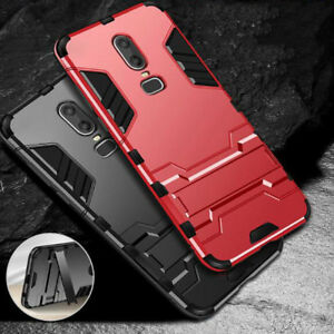 sports shoes 7ad5b 39921 Details about For OnePlus6 OP6 Shockproof Heavy Duty Armor Hard Tough  w/Kickstand Case Cover