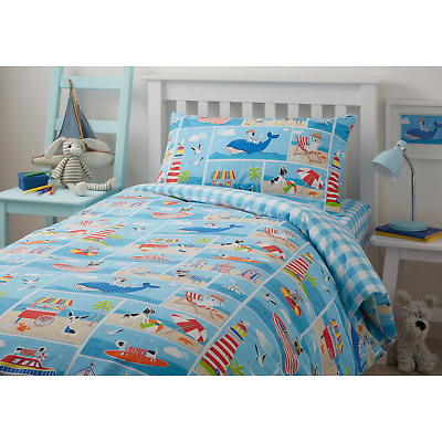 Bedlam Patch Seaside Children's Kids Boy's Girl's Duvet Cover Set Bedroom Range