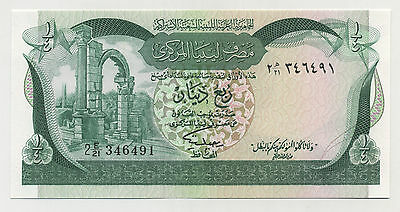 Learned Libya 1/4 Dinar Nd 1981 Pick 42a Unc Uncirculated Banknote Other African Paper Money