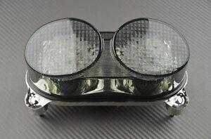 Tail Light Integrated LED Turn Signals Fits Kawasaki ZX9R 1998-2003 1999 2000 mp