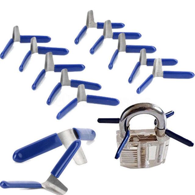 10 padlock shim set key unlocking accessories tool kit without lock