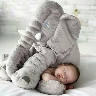 Elephant Toddler Pillow Baby Sleeping Cuddly Comfortable Plush L50 cm X H46 cm