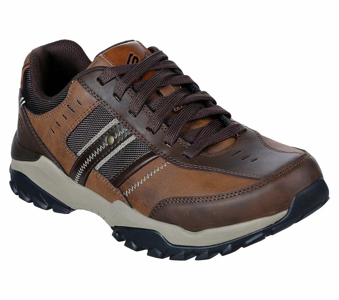 Skechers Bequeme Passform: Henrick Delwood Schuhe 66015 Herren Leder Spitze