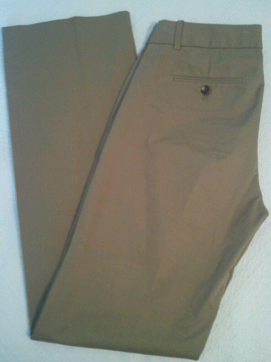 J Crew  90 Cafe Trouser 0 Khaki Womens Pants Trouser 95852