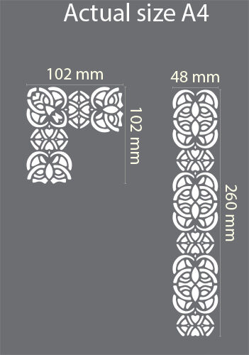 Border Lace Stencil Vintage Template Wedding Cake Paint Card Making Crafts BO17