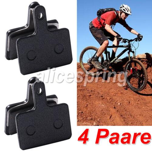 4 Paar Fahrrad Bremsbeläge für Shimano B01S Resin Organisch Bremsklötze MTB DE