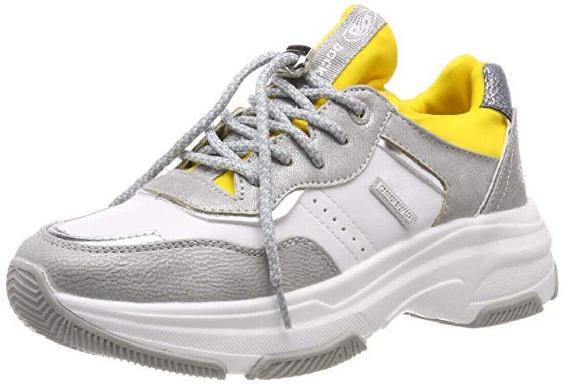 Dockers de Gerli 44DC201-680559 Mujer Fashionzapatilla de deporte Zapatillas Plata Multi Sale