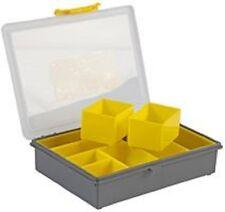 Plástico 8 Caja de almacenamiento compartimiento embarcaciones de pesca Tornillos plegadores Joyas