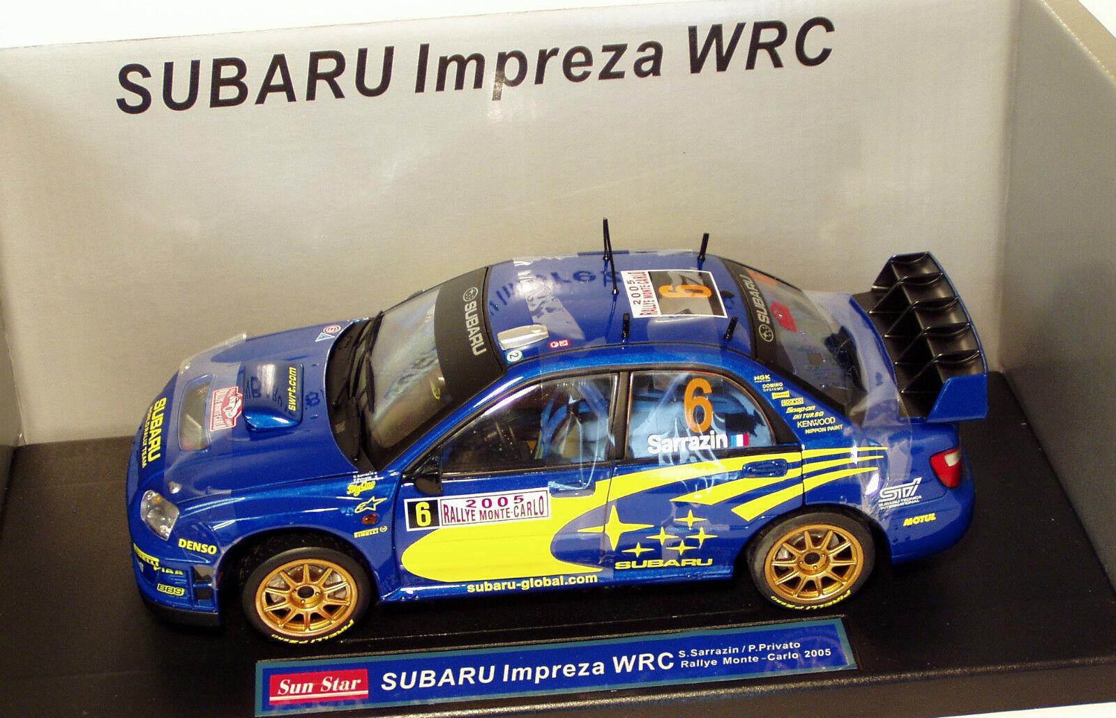 1 18 Subaru Impreza WRC Rally Monte Carlo 2005  S.Sarrazin