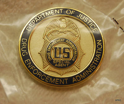DEA 1.5 inch Full Color Seal Badge Challenge Coin  Police CIA FBI Secret Service