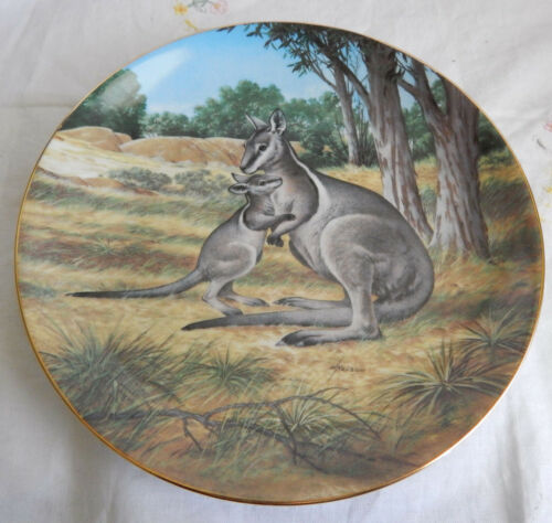 THE BRIDLED WALLABY Plate by Will Nelson LAST OF THEIR KIND Endangered Species