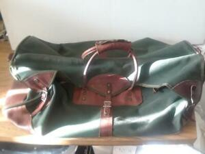 Orvis-Battenkill-Large-28-034-Duffle-Bag-Leather-Canvas-Vintage-VERY-GOOD-Cond