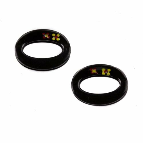 Small Hair Claw Clamp Unique Slim Oval Hair Claw Clip With Printed Set of 2