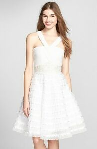 3d3f7893f6 Image is loading SUE-WONG-EMBELLISHED-LACE-MIX-MEDIA-FIT-amp-