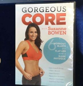 Gorgeous Core Suzanne Bowen Fitness DVD 6 Abs Workouts Body Exercise Weight Loss