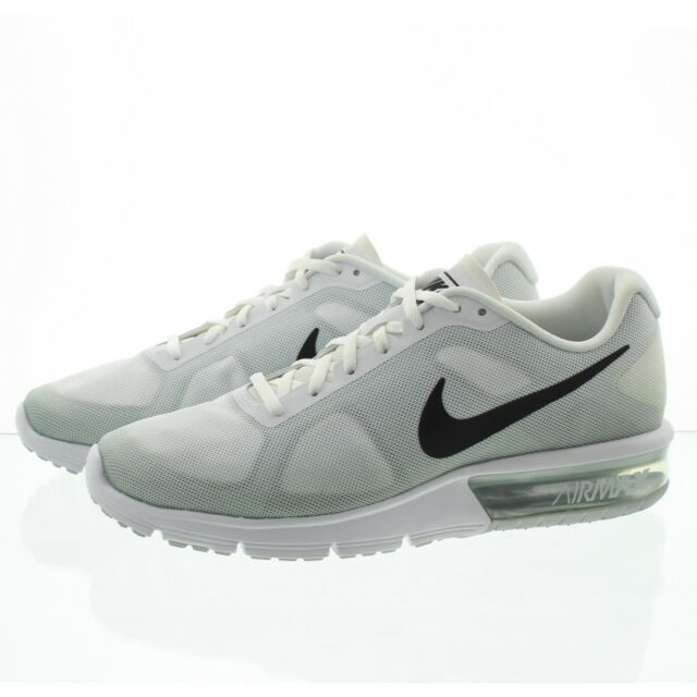finest selection d7c64 d039a Mens Nike Air Max Sequent White Gray 90 95 97 Athletic Runni