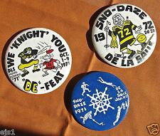 3 Large Pins-Homecoming +SnoDaze /De La Salle High School, Minneapolis, MN- '70s