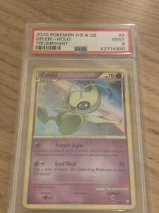 PSA-9-MINT-Celebi-Holo-HGSS-Triumphant-Pokemon-Game-2010