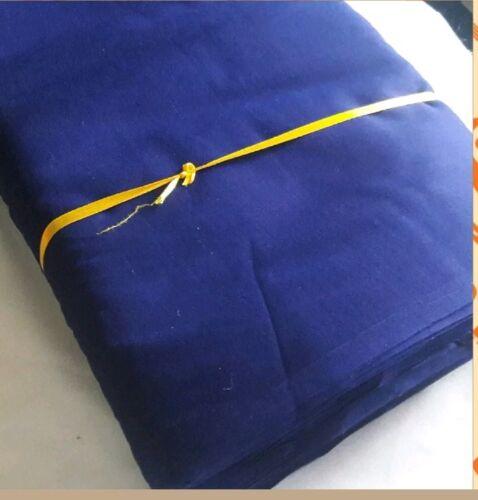 Punjabi Sikh paghri Turbante dastar FODERA 4 METRO FULL Voile Tessuto 100% COTONE