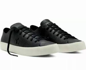 nowa wysoka jakość niska cena zaoszczędź do 80% Details about Converse One Star Prime OX Shoes Mens 11 Womens 13 Black  Leather Lunar $125 NEW
