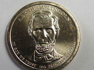Abraham Lincoln  $1 Presidential Golden Dollar Coin Presidential (2007-Now) 2010-D
