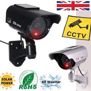 JUSTOP-ad-energia-solare-sicurezza-Dummy-Telecamera-di-sorveglianza-CCTV-Fake-Cam-IR-LED-UK