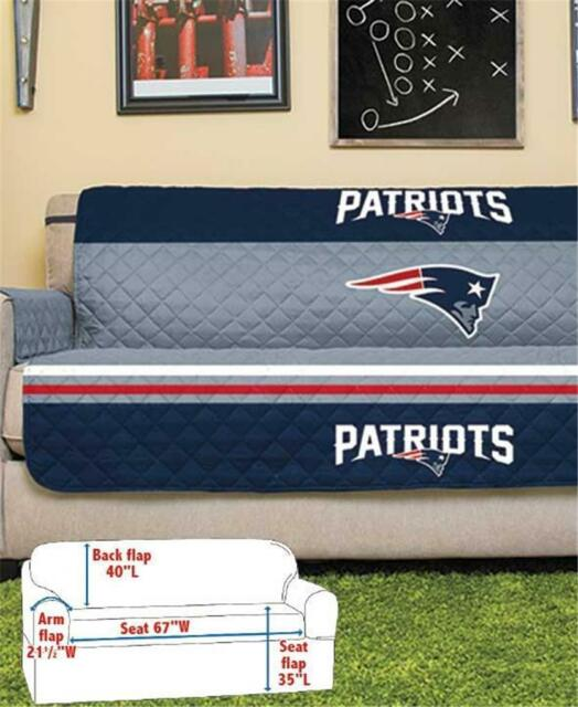 NEW ENGLAND PATRIOTS NFL FOOTBALL TEAM SOFA COUCH FURNITURE PROTECTIVE COVER