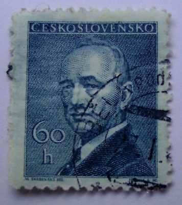 1 Briefmarke Eduard Beneš - 60 Heller (tsch. 1945) Michel Nr. 462, Philatelie Modernes Design