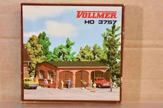 Vollmer 3757 Ho Maßstab Klein 3 Auto Werkstatt Modelleisenbahn Layout Set Nq