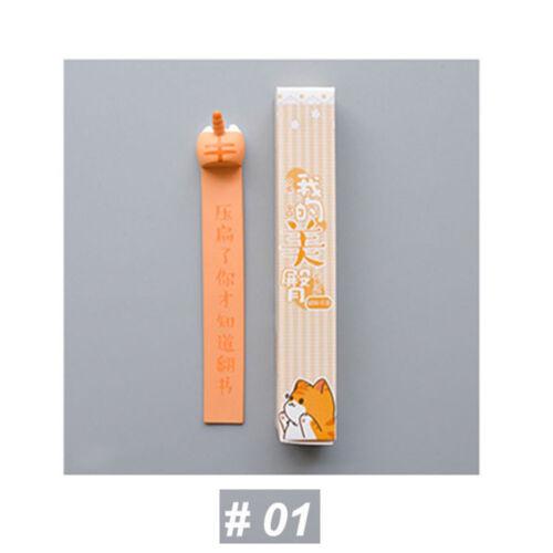 1PC Lovely Cartoon Dog Cat Hamster Fox Ass Bookmarks Novelty Book Reading Gift ~