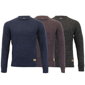 Mens-Wool-Mix-Jumper-Threadbare-Cable-Knitted-Sweater-Pullover-Top-Casual-Winter