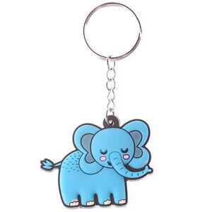 Zooniverse BNIP Gift Idea Cute Blue Elephant Animal Novelty PVC Keyring