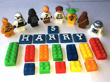 Edible Fondant Lego inspired Star Wars & Bricks Cake Topper  decorations