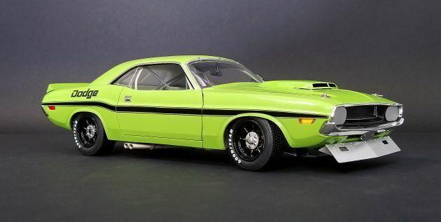 ACME 1970 Dodge Challlenger Trans Am - Street Version - Lime vert 1 18