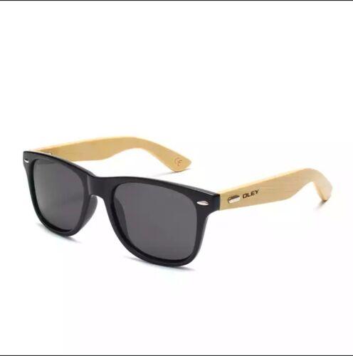 OLEY Brand Bamboo Leg Polarized Sunglasses men Classic Square goggle Fashion Ret