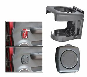 One Touch Folding car Drink Can Cup Glass Holder (grey) For all car