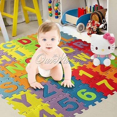 Baby Kid Room Alphabet Numbers EPE Foam Crawl Play Floor Mat Tiles Jigsaw Puzzle