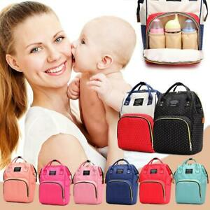Mummy-Maternity-Nappy-Diaper-Bags-Large-Capacity-Baby-Travel-Backpack-Handbag-AU