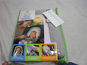 NEW Goldbug Extra Value 2 in 1 Head Support - Grey and Pink - NIP