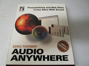 Details about Sonic Foundry Audio Anywhere supports MP3 and MS Audio on CD  for PC - Sealed
