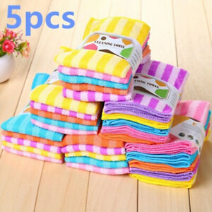 Microfiber-Dishcloth-Square-Kitchen-Washing-Cleaning-Towel-Dish-Cloth-Rags-Wipe