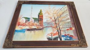 Bournett-Caroline-Paris-brilliant-signed-original-oil-painting-on-board