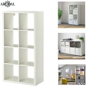 Image Is Loading Ikea Kallax White 8 Shelving Unit Display Storage