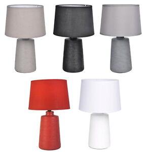 Homea-Ceramica-Lampara-de-Mesa-Aspecto-Piedra-Noche-Luz